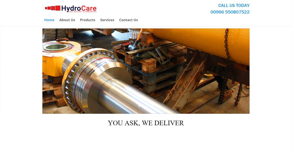 Hydrocare Saudi web development Portfolio: Web Development Hydrocare Saudi